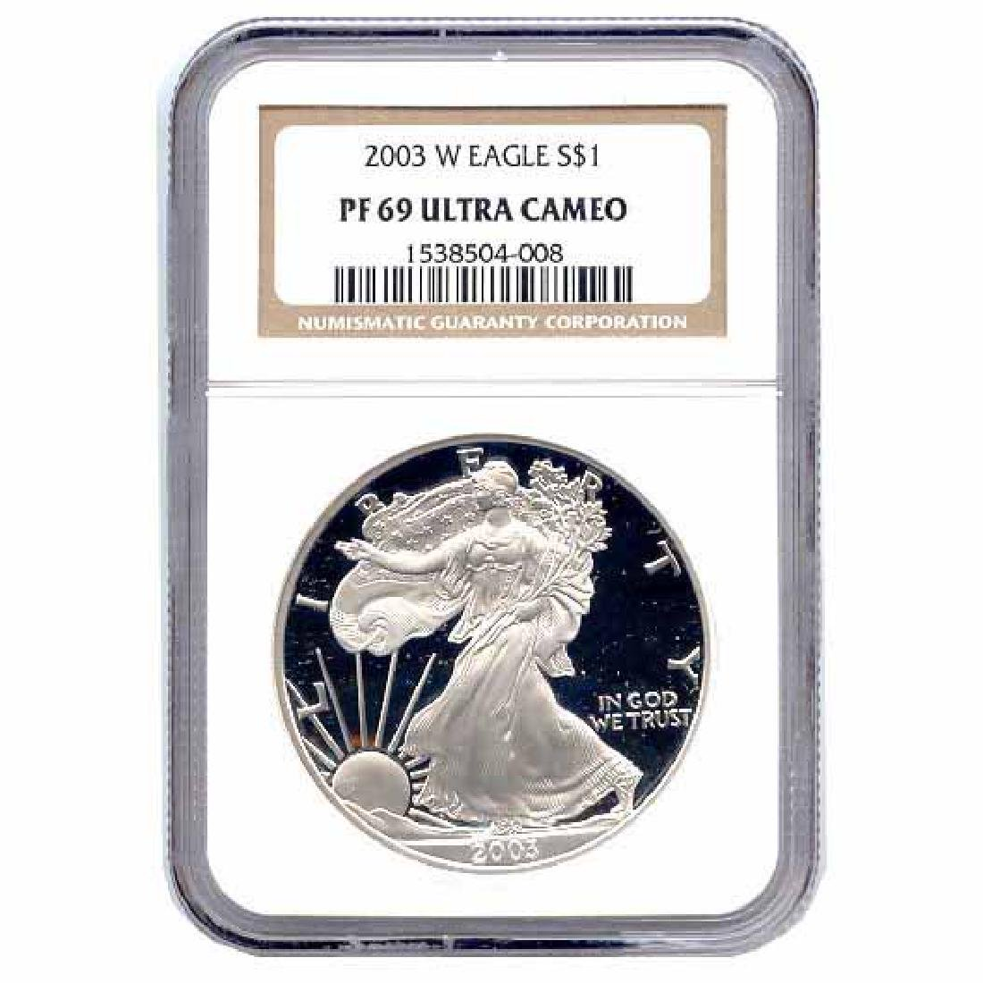 Certified Proof Silver Eagle PF69 2003