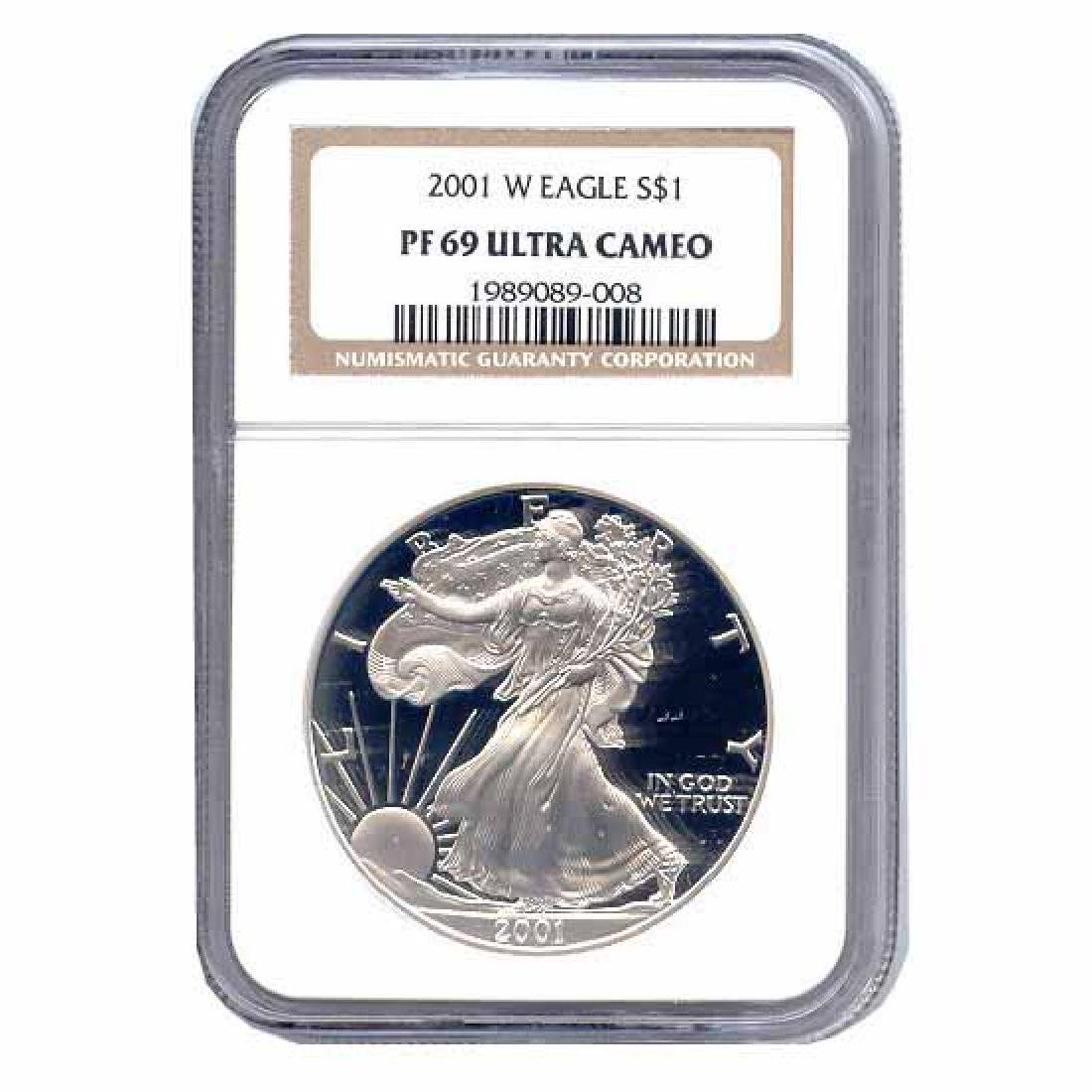 Certified Proof Silver Eagle PF69 2001