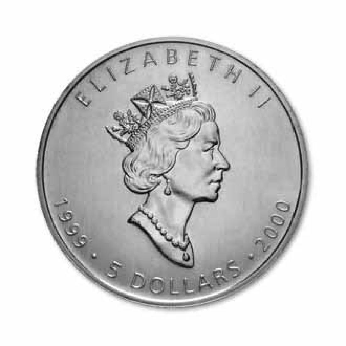 1999-2000 Silver Maple Leaf 1 oz Uncirculated - Dual Da