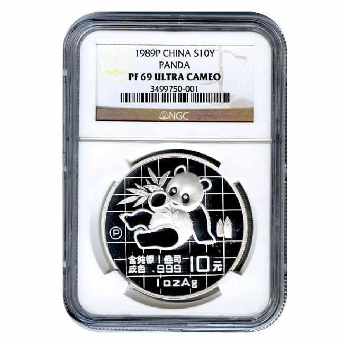 Certified Chinese Panda One Ounce 1989 PF69 NGC