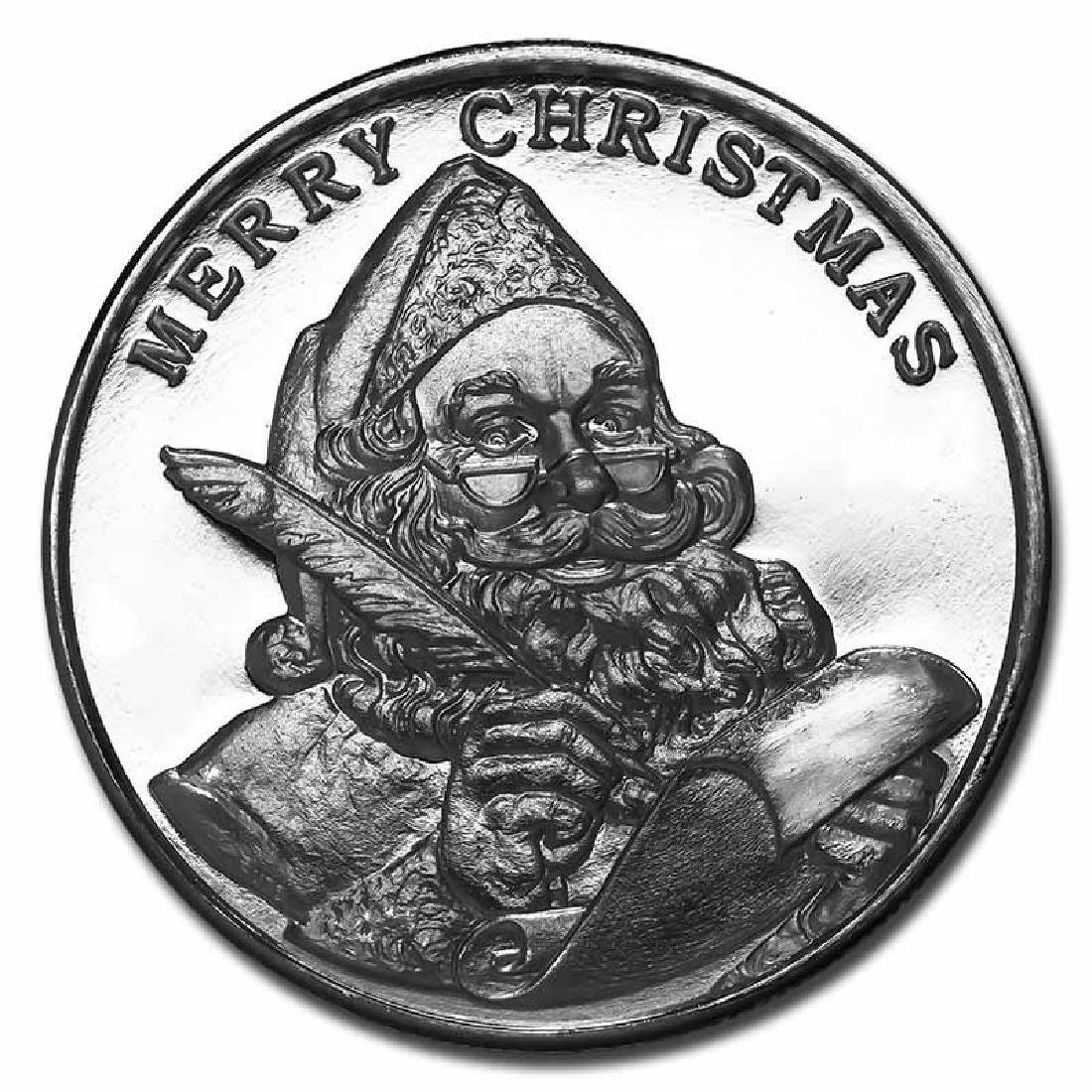 Christmas 2017 Silver Round Santas List (Highland Mint