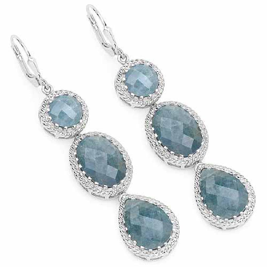 21.32 Carat Genuine Milky Aquamarine .925 Sterling Silv