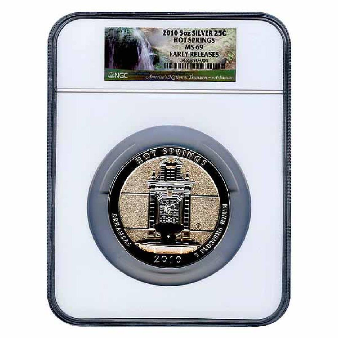 Certified ATB 5 Ounce Bullion NGC Hot Springs MS69 Earl