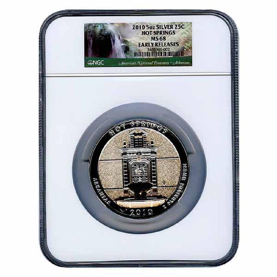 Certified ATB 5 Ounce Bullion NGC Hot Springs MS68 Earl