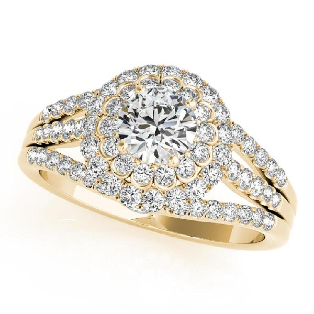 CERTIFIED 18K YELLOW GOLD 1.61 CT G-H/VS-SI1 DIAMOND HA