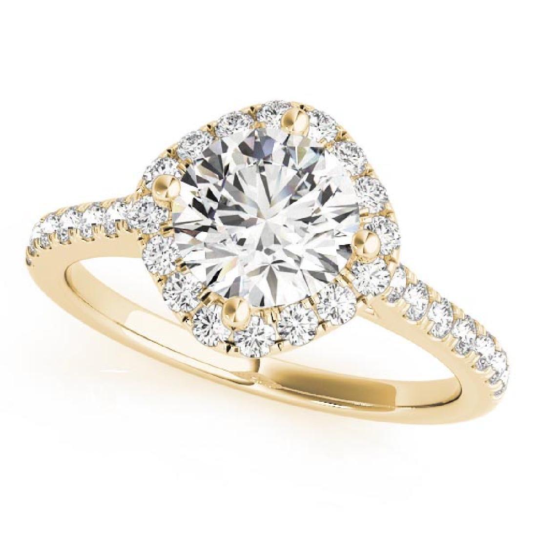 CERTIFIED 18K YELLOW GOLD 1.55 CT G-H/VS-SI1 DIAMOND HA