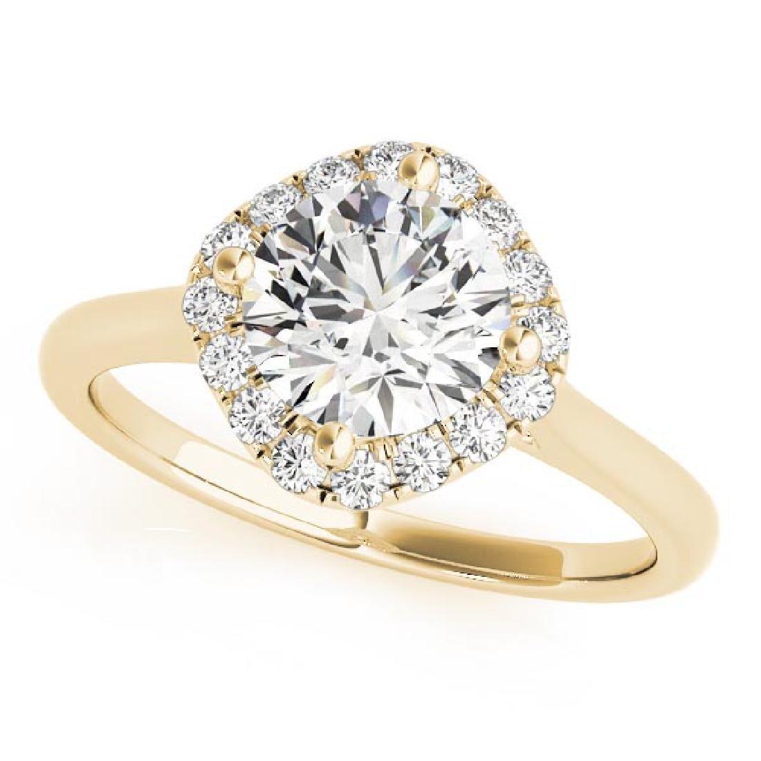CERTIFIED 18K YELLOW GOLD 1.16 CT G-H/VS-SI1 DIAMOND HA