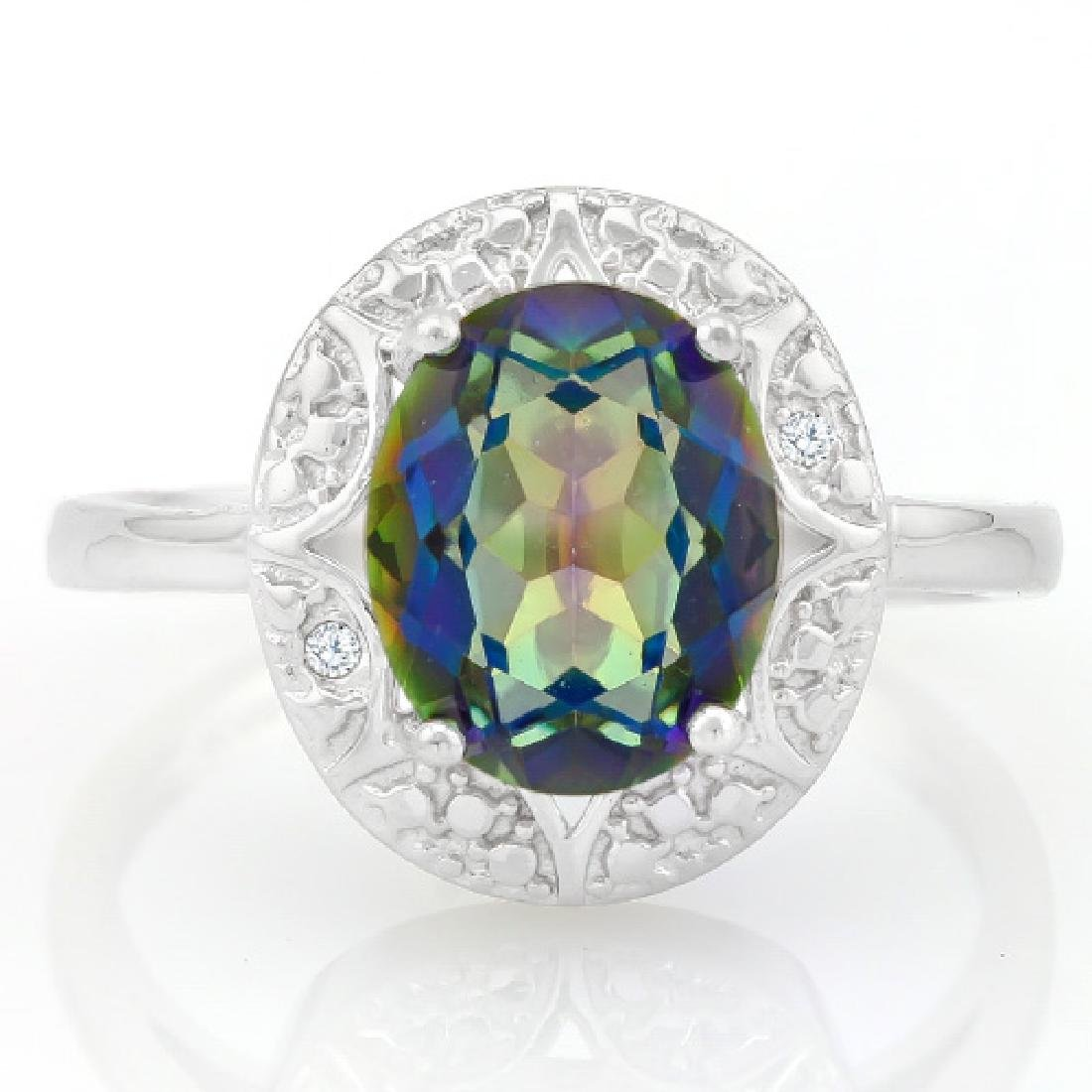 2 3/5 CARAT OCEAN MYSTIC GEMSTONE & GENUINE DIAMONDS 92
