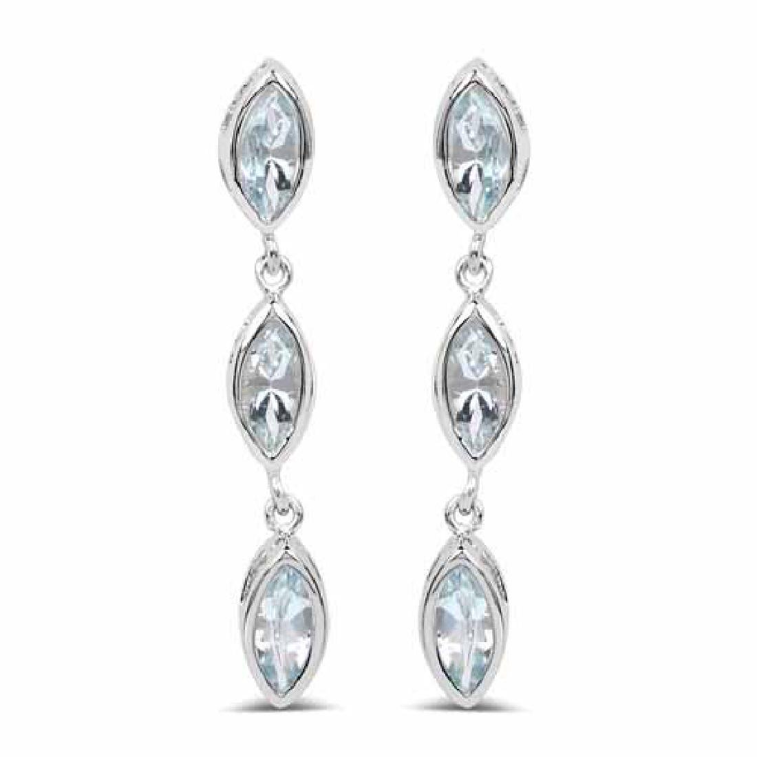 1.92 Carat Genuine Aquamarine .925 Sterling Silver Earr