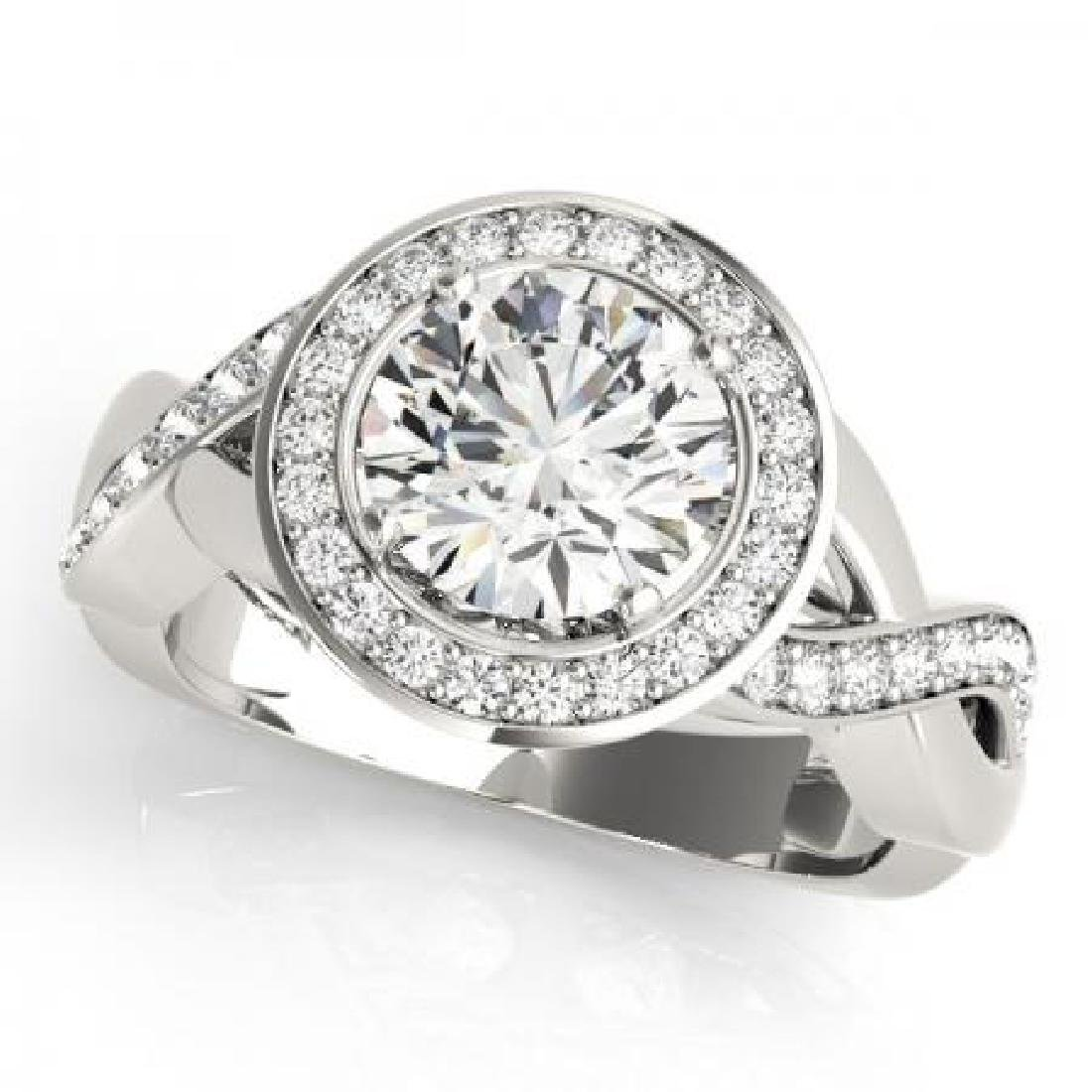 CERTIFIED PLATINUM 1.32 CT G-H/VS-SI1 DIAMOND HALO ENGA