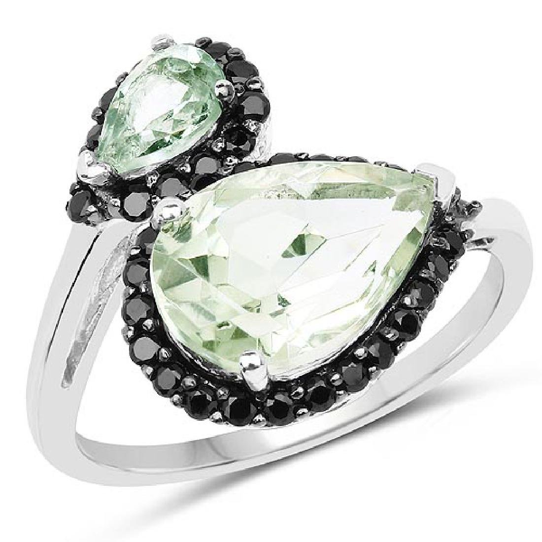 3.42 Carat Genuine Multi Stone .925 Sterling Silver Rin