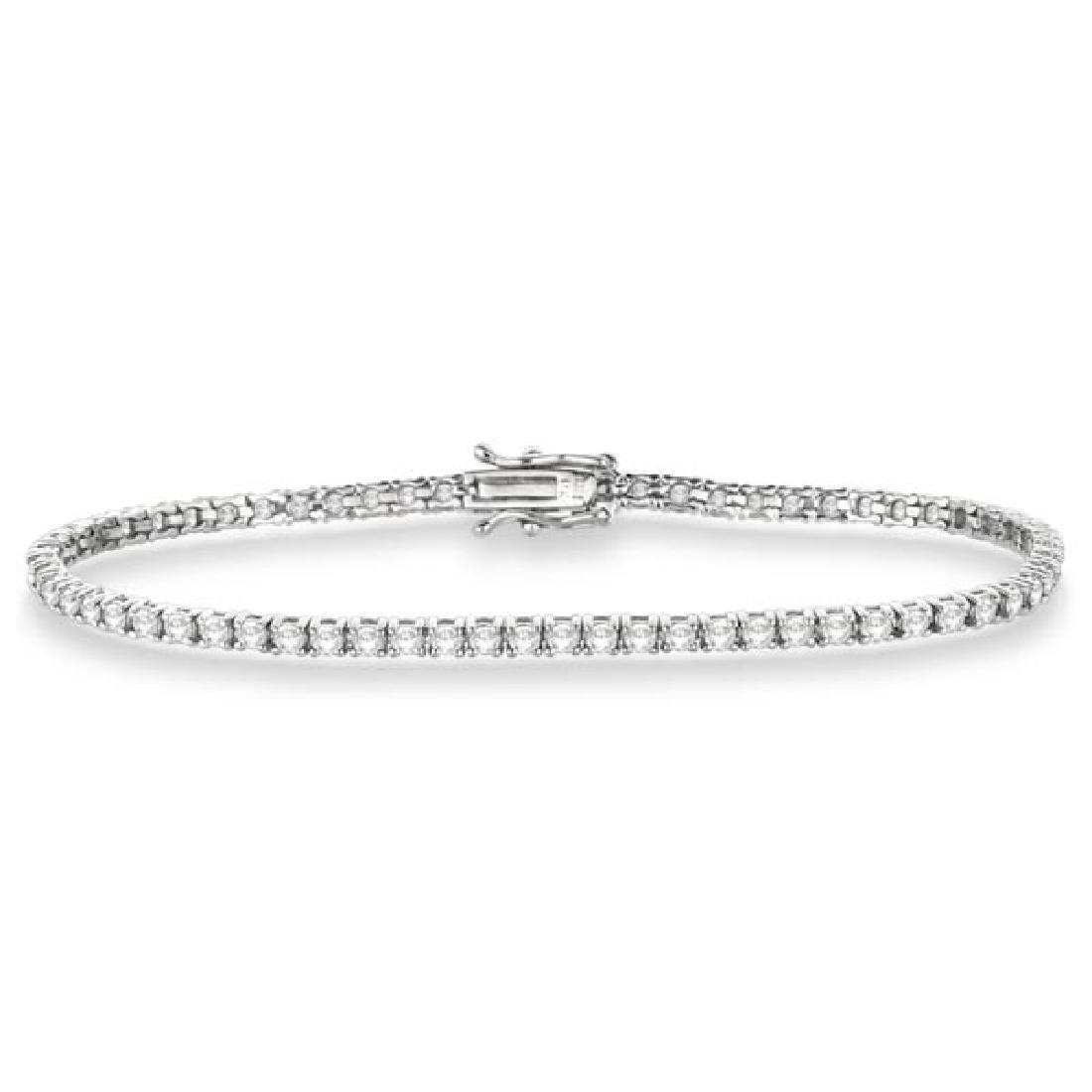 Eternity Diamond Tennis Bracelet 14k White Gold (3.51ct