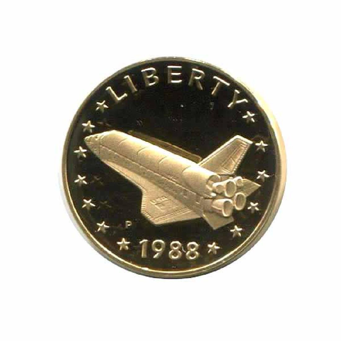 1988 America in Space gold medal PF