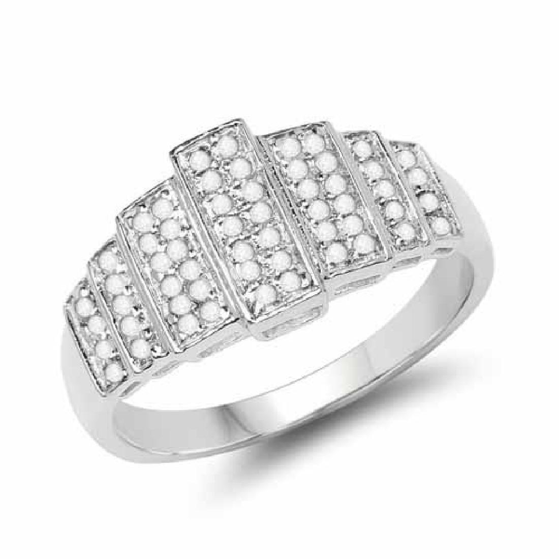 14K White Gold Plated 0.26 Carat Genuine White Diamond