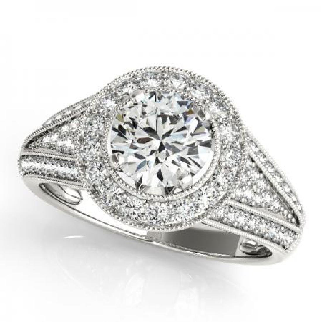 CERTIFIED PLATINUM 1.09 CT G-H/VS-SI1 DIAMOND HALO ENGA