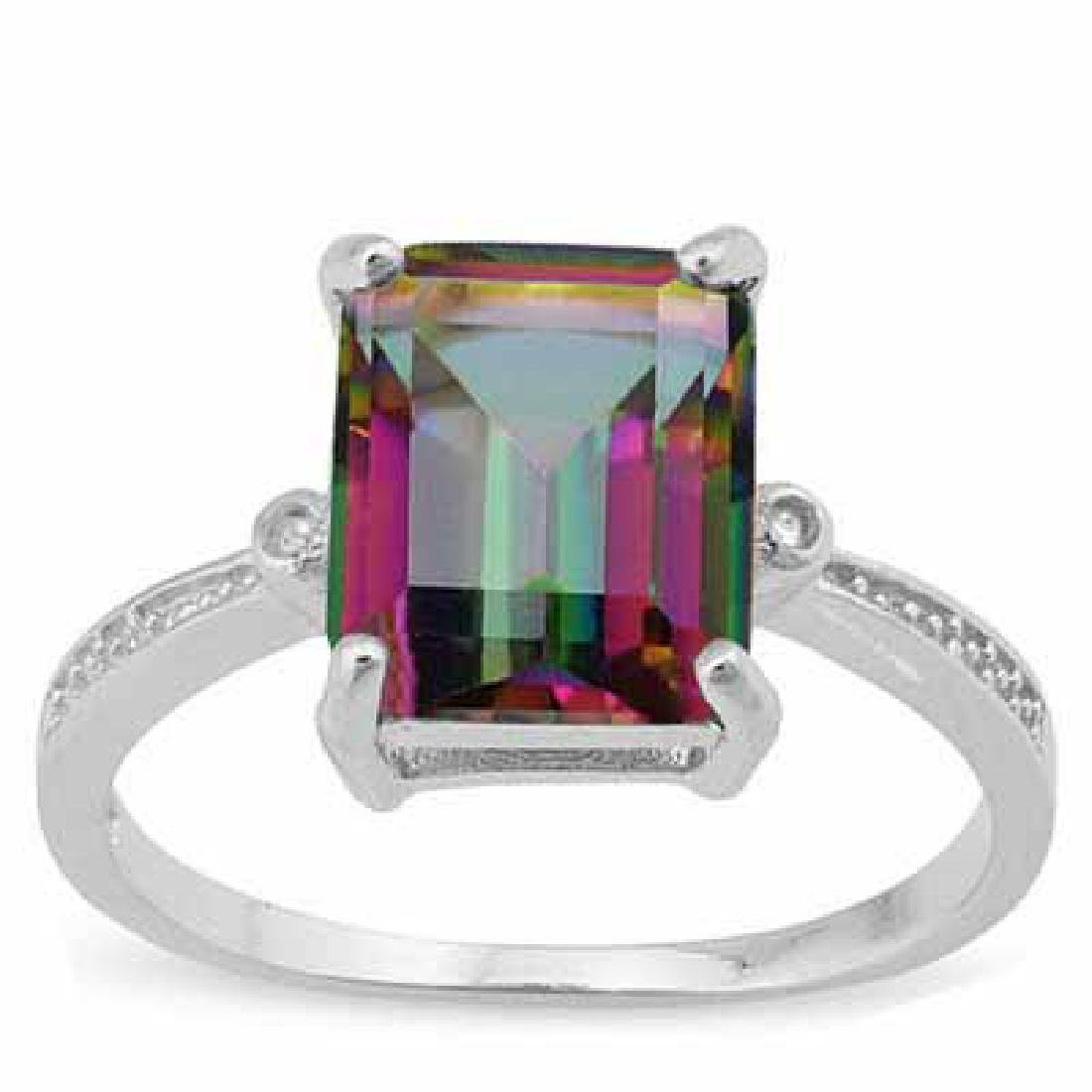 3 CARAT MYSTIC GEMSTONE & DIAMOND 925 STERLING SILVER R