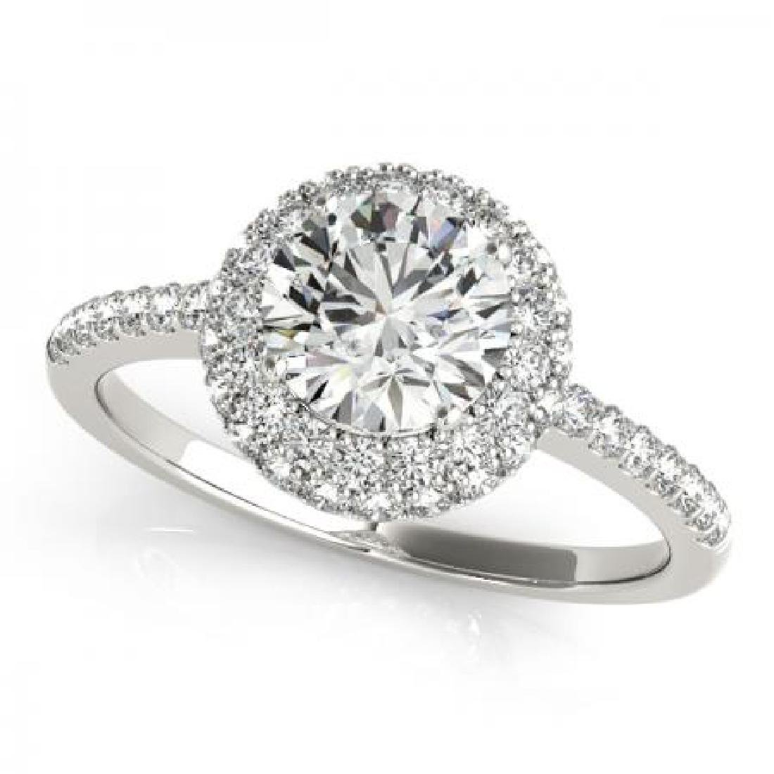 CERTIFIED PLATINUM 1.84 CT G-H/VS-SI1 DIAMOND HALO ENGA