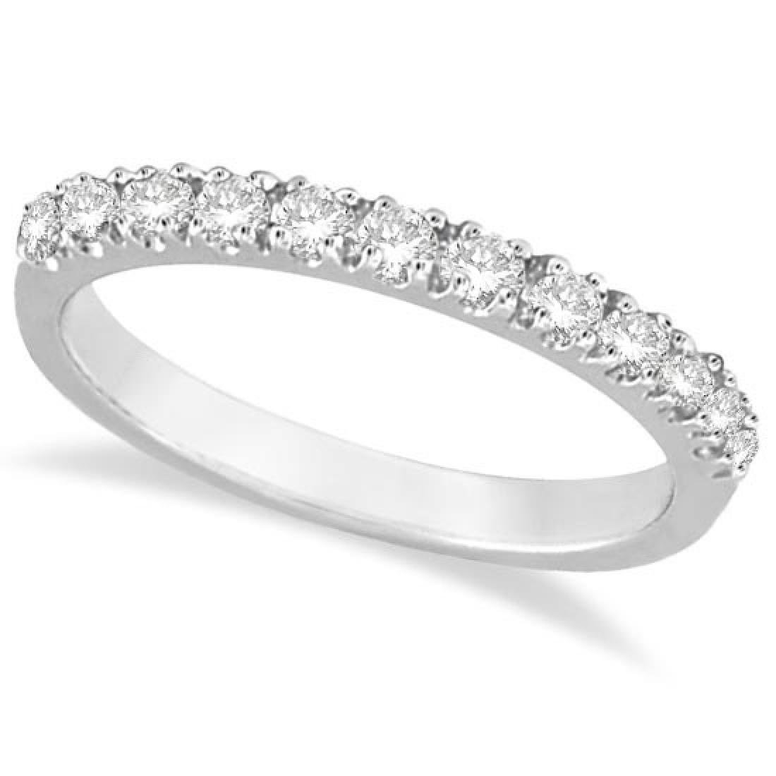 Diamond Stackable Ring Anniversary Band in 14k White Go
