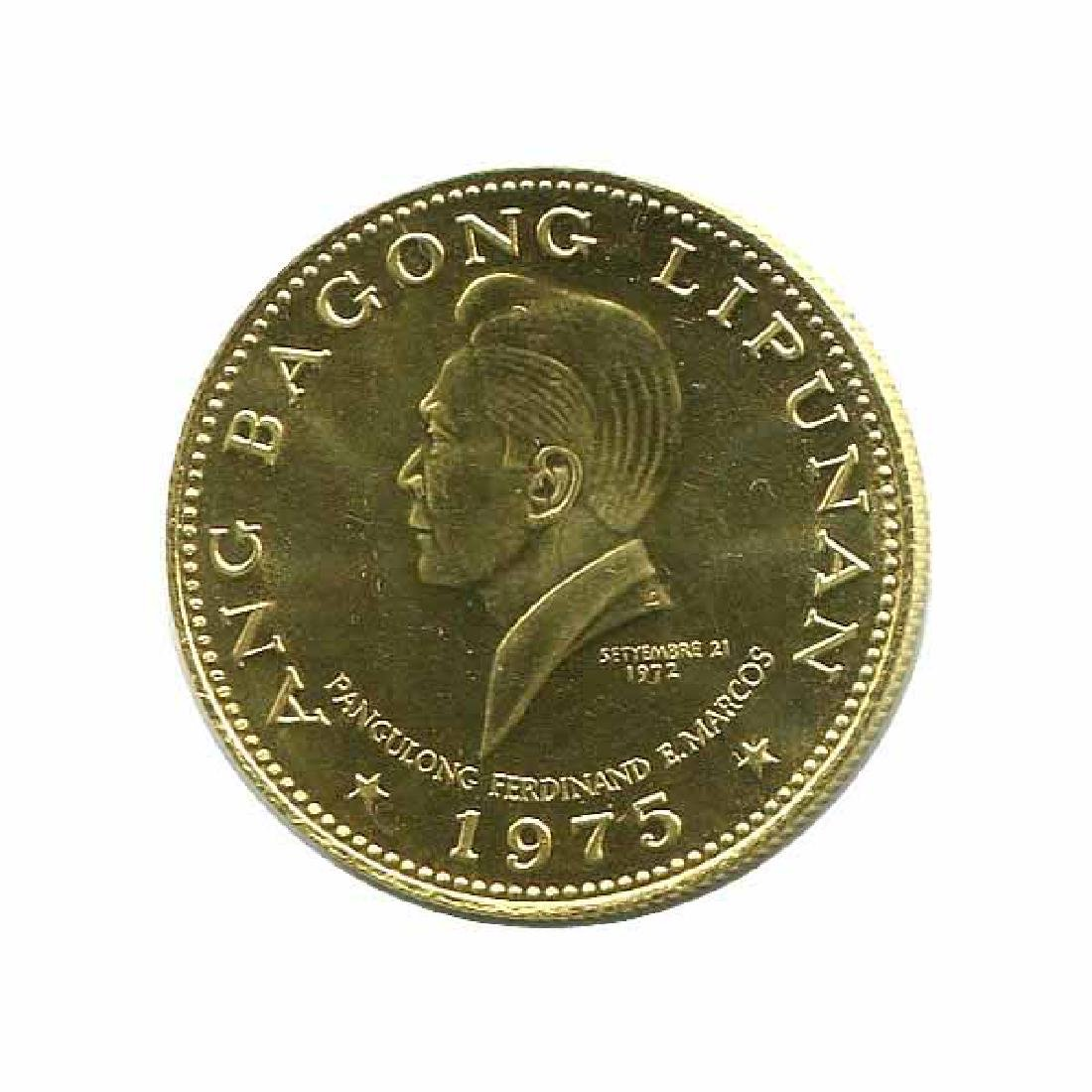 Philippines 1000 piso gold 1975 New Society