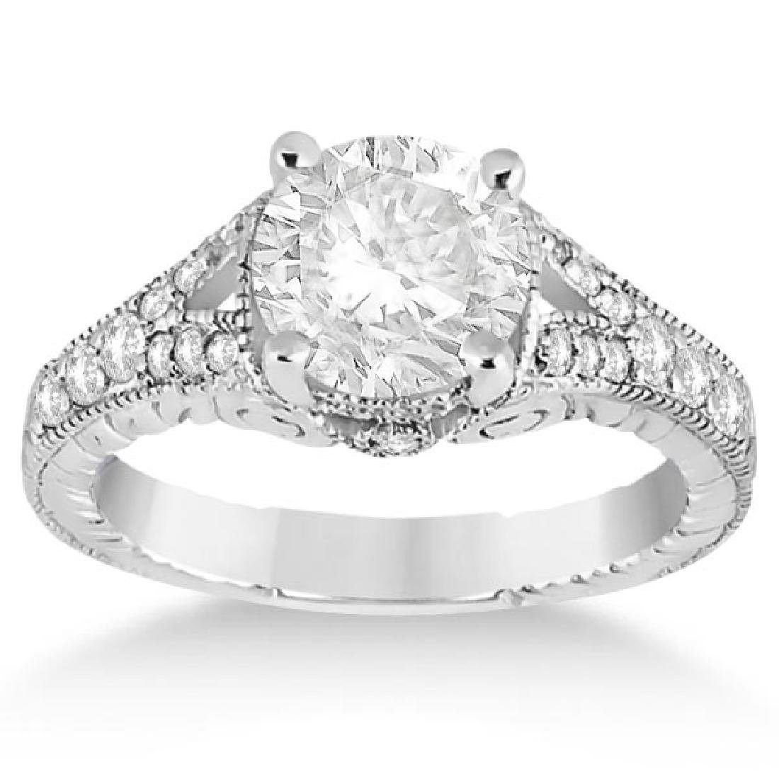 Antique Style Art Deco Diamond Engagement Ring Platinum