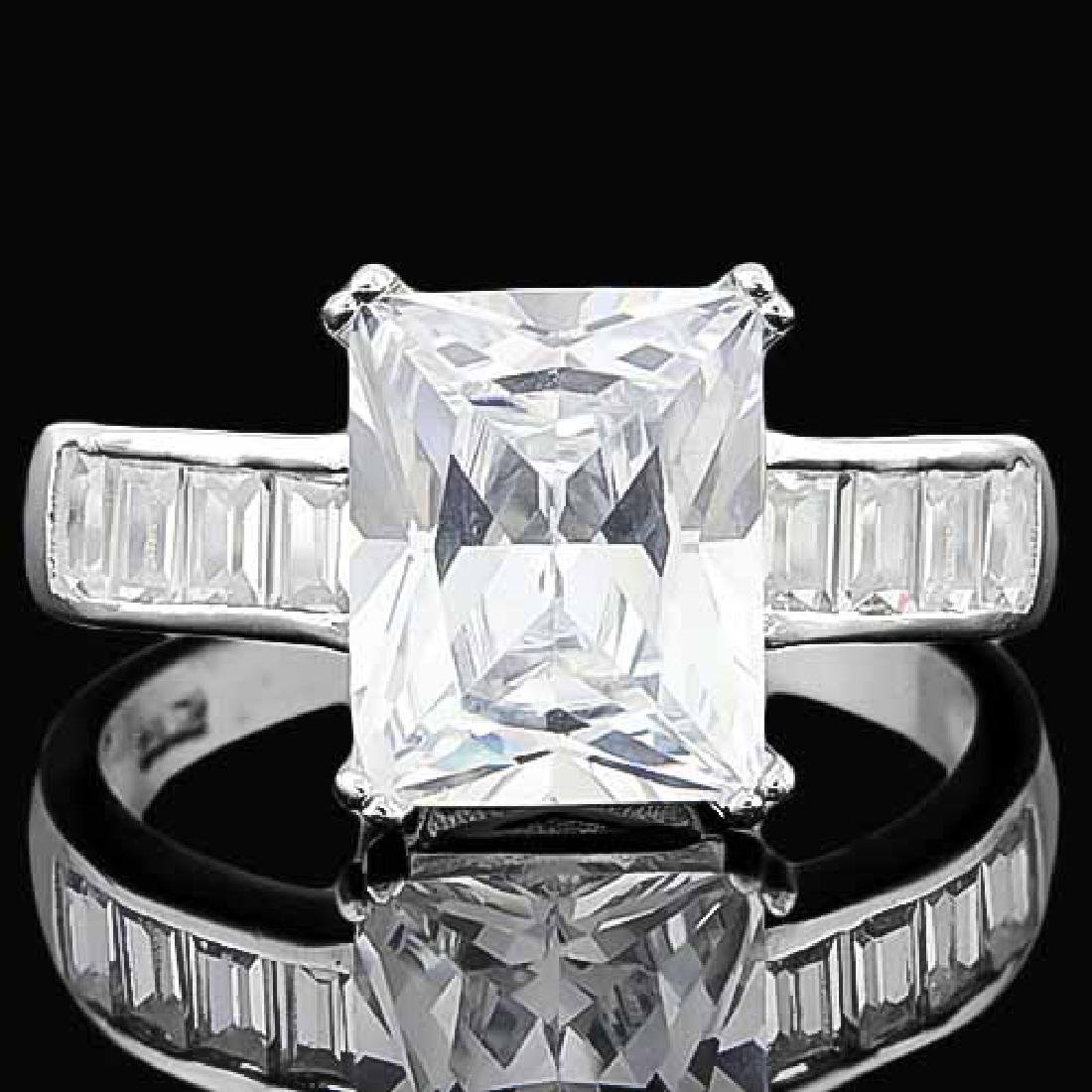 4 2/5 CARAT (13 PCS) FLAWLESS CREATED DIAMOND 925 STERL