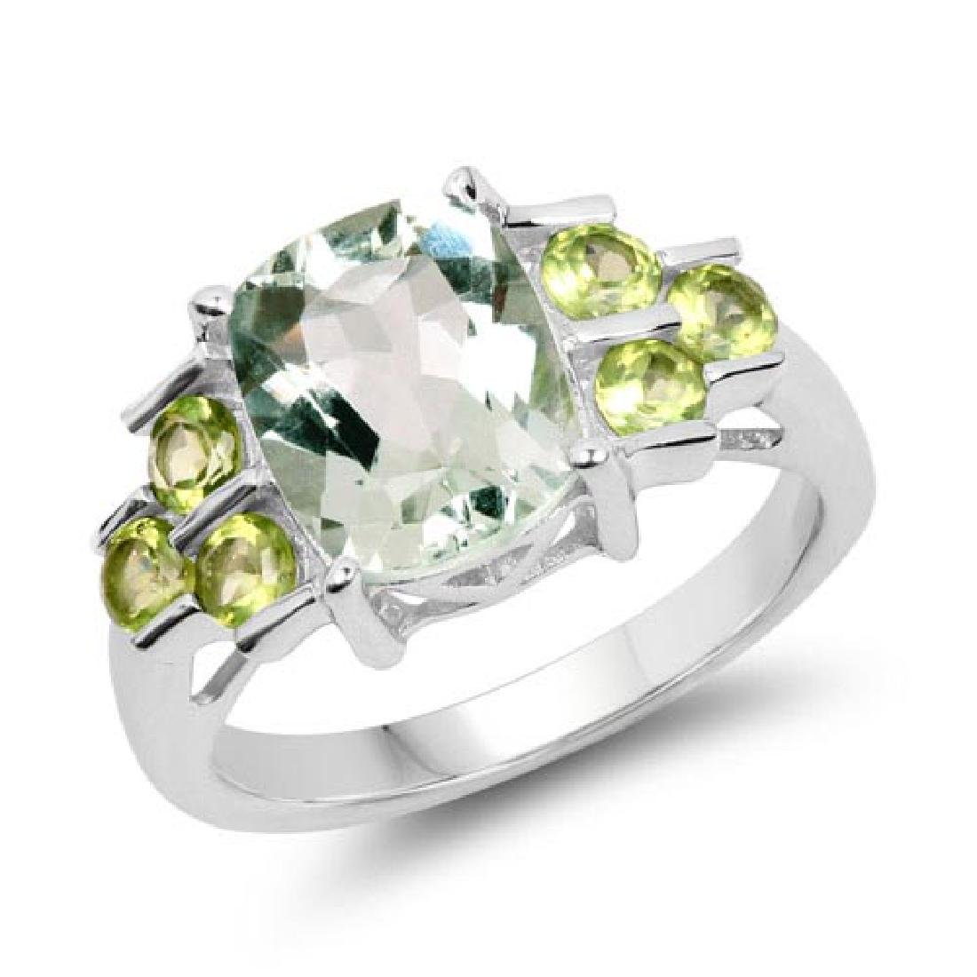 2.85 Carat Genuine Green Amethyst and Peridot .925 Ster