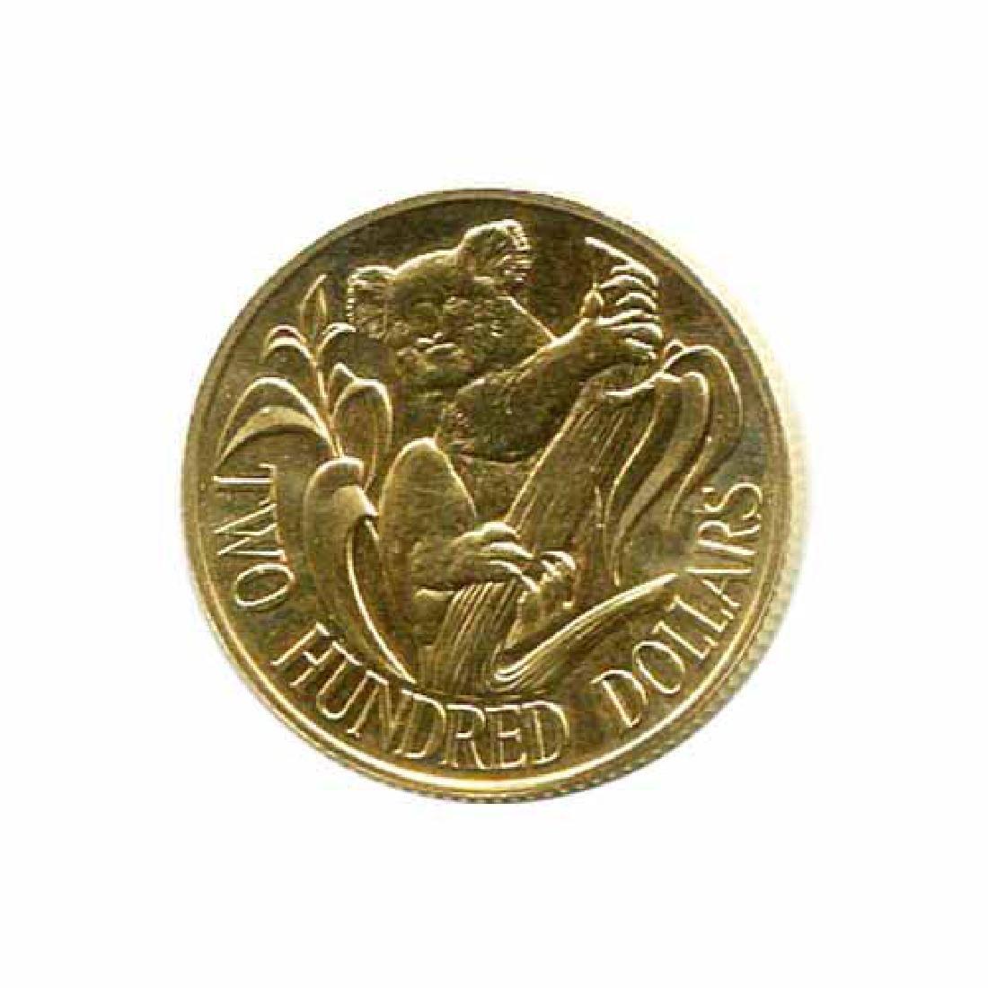 Australia $200 Gold Koala 1980-1984 BU
