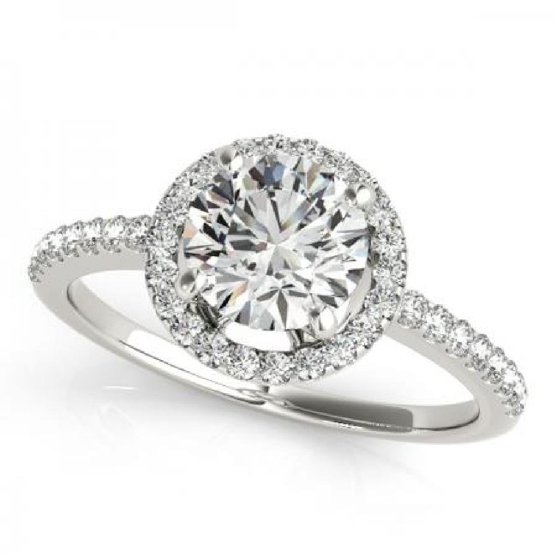 CERTIFIED PLATINUM 1.58 CT G-H/VS-SI1 DIAMOND HALO ENGA