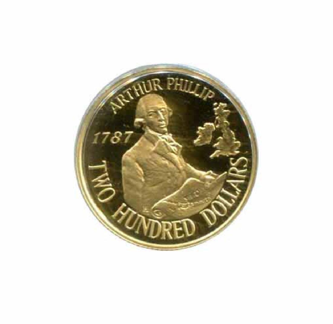 Australia $200 gold PF 1987 Arthur Phillip