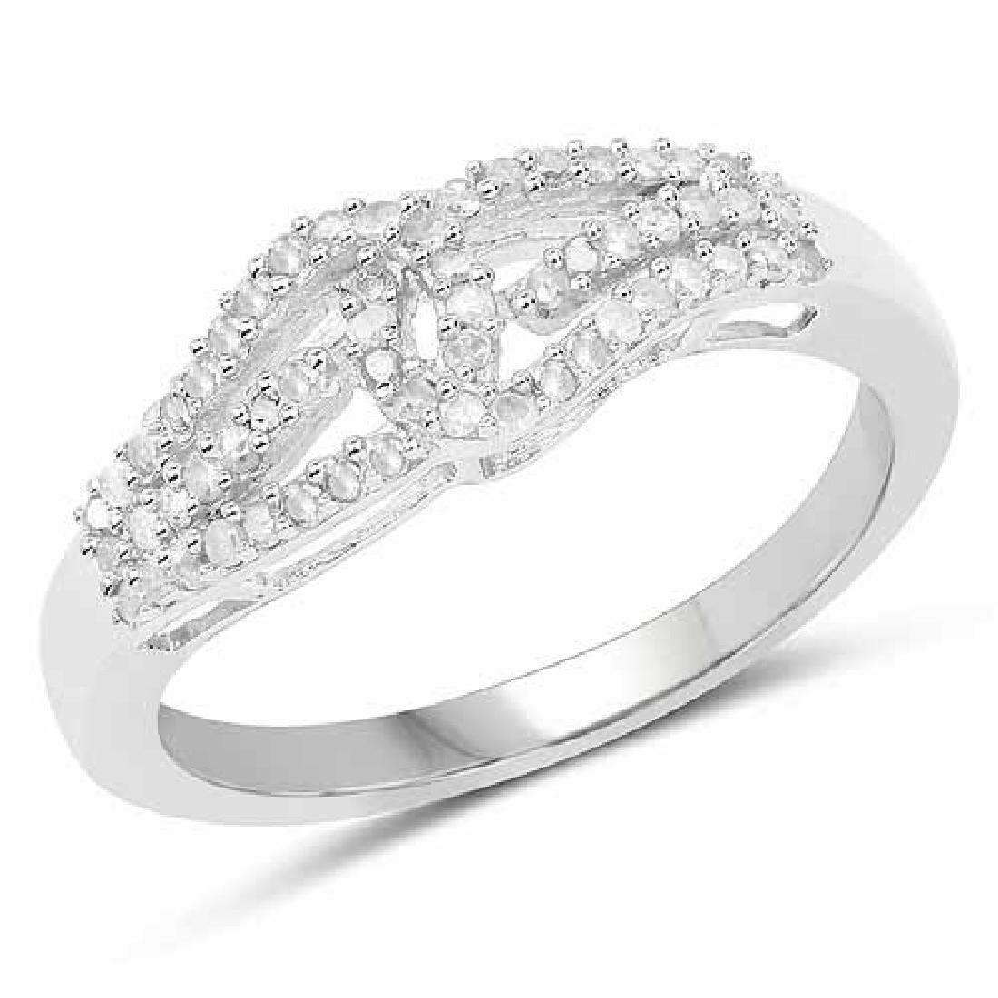 0.31 Carat Genuine White Diamond .925 Sterling Silver R