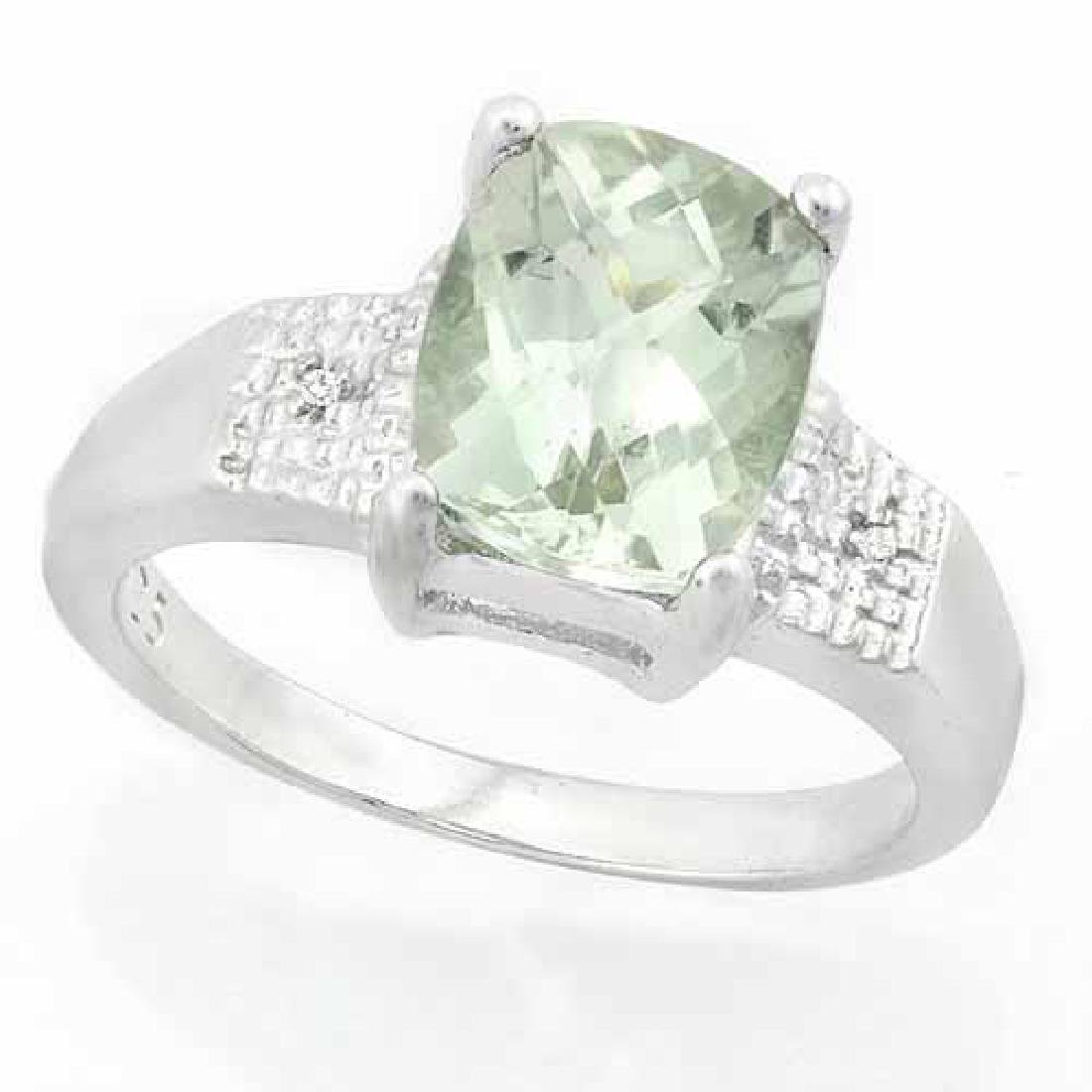 1.50 CARAT CREATED SAPPHIRE & (56 PCS) CREATED DIAMOND
