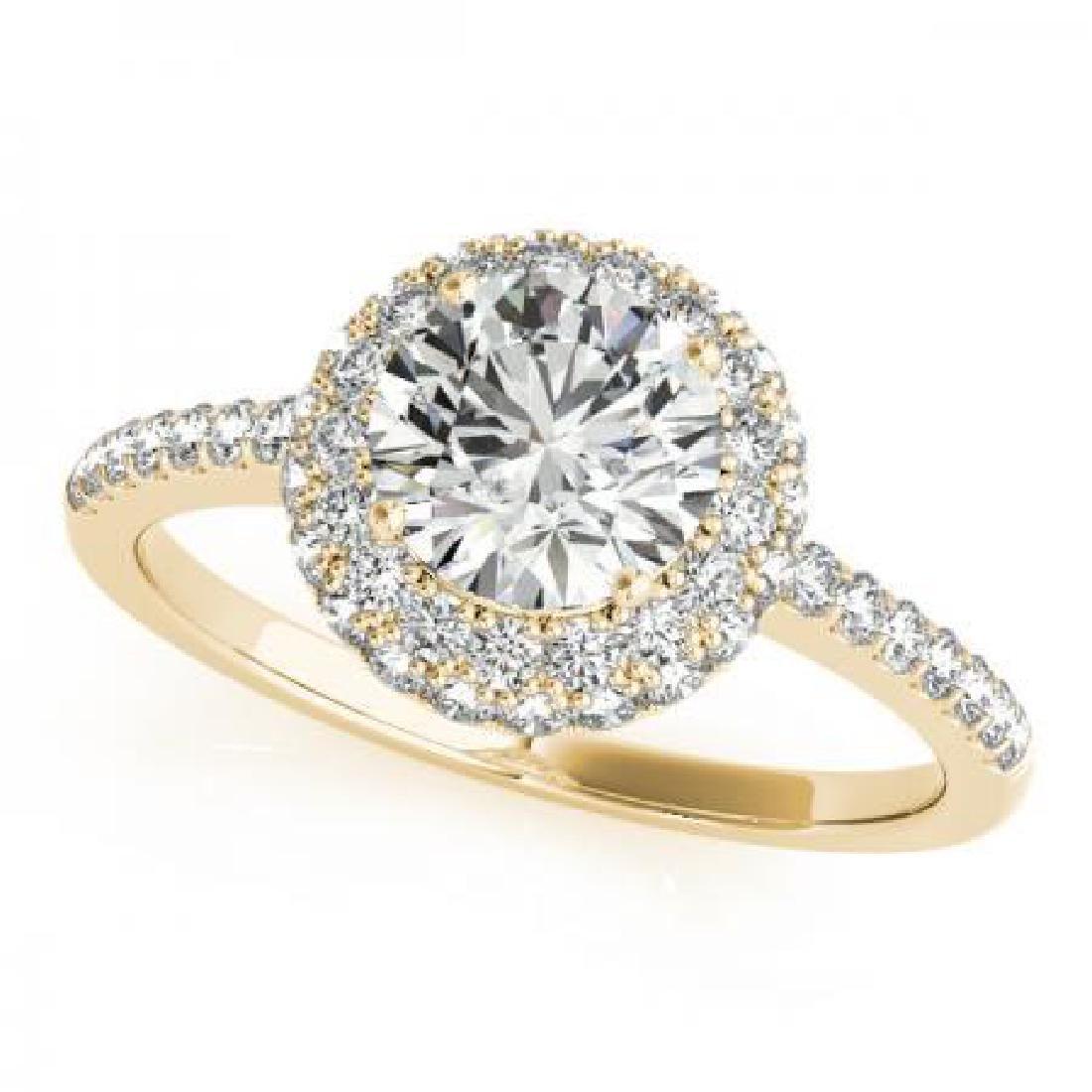 CERTIFIED 18K YELLOW GOLD 1.84 CT G-H/VS-SI1 DIAMOND HA