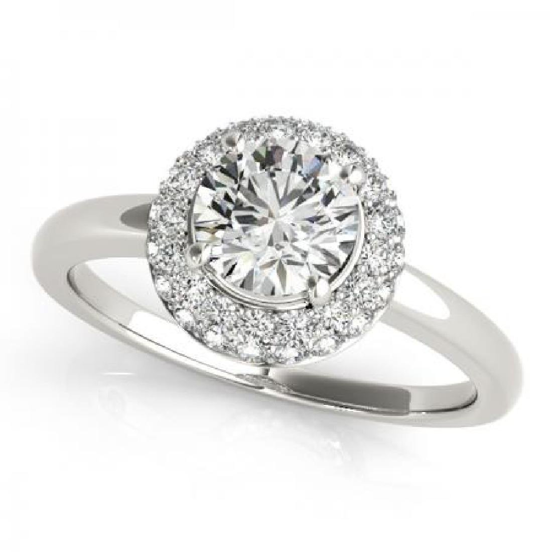CERTIFIED PLATINUM 1.45 CT G-H/VS-SI1 DIAMOND HALO ENGA