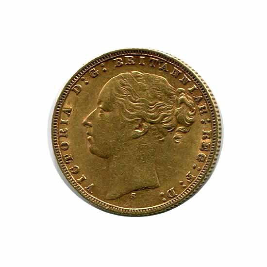 Australia gold sovereign 1872S XF-AU