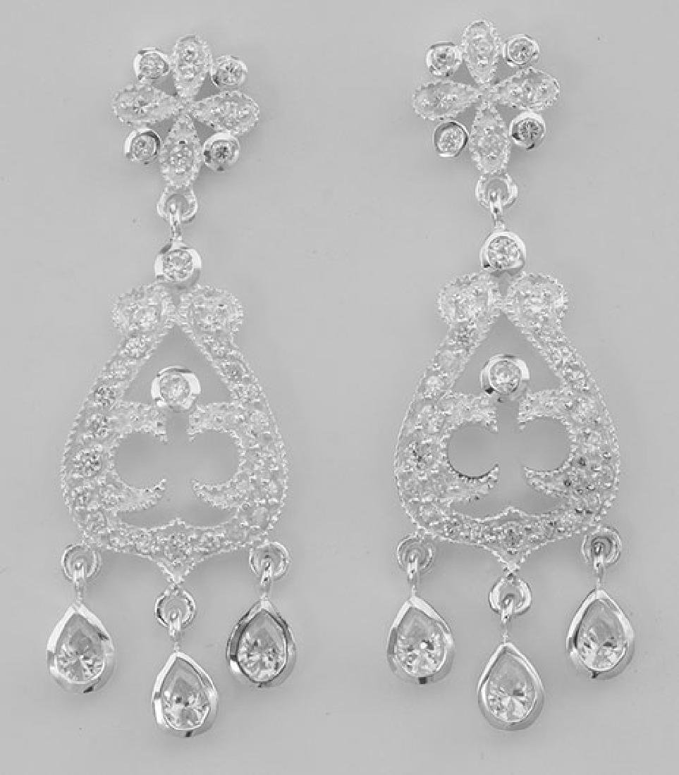 Beautiful Sparkling Cubic Zirconia Dangle Earrings - St