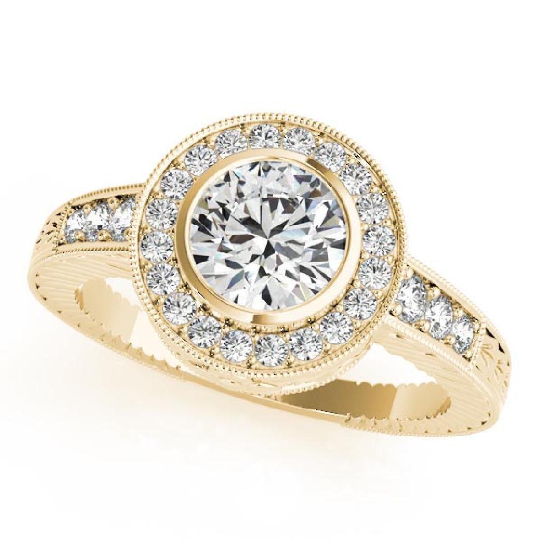CERTIFIED 18K YELLOW GOLD 1.42 CT G-H/VS-SI1 DIAMOND HA
