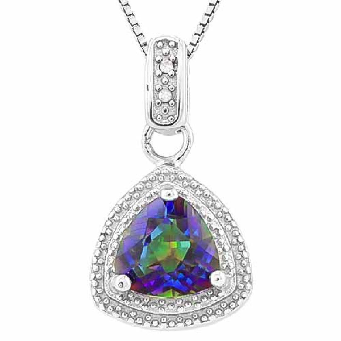 1 1/5 CARAT OCEAN MYSTIC GEMSTONE & DIAMOND 925 STERLIN