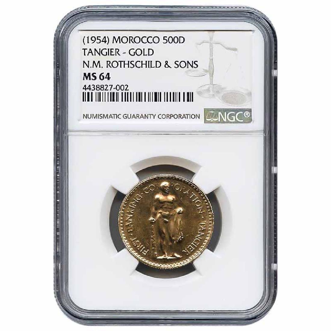 Morocco Gold 500 Dirhams Tangier X-2 N.M. Rothschild &