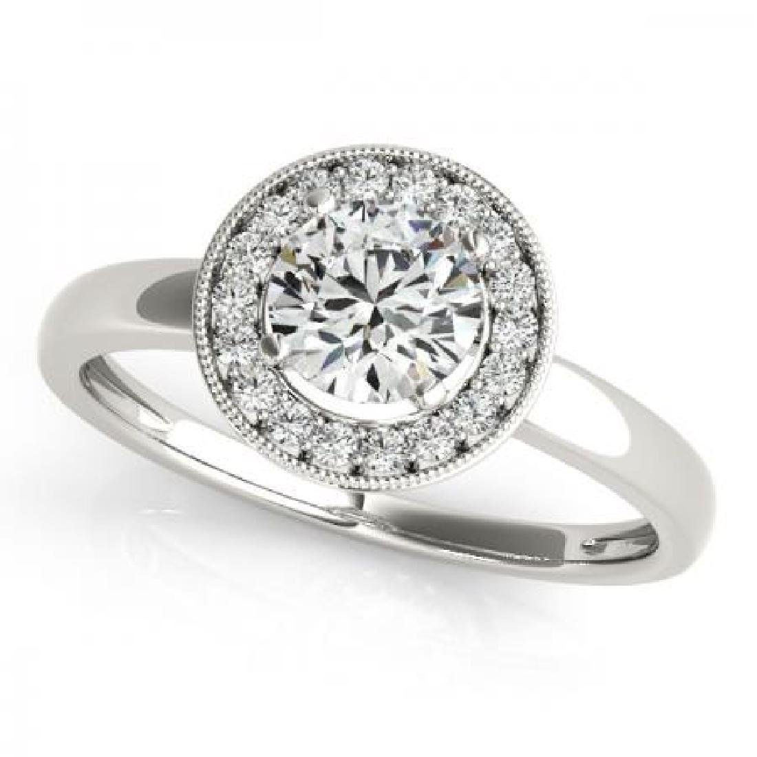 CERTIFIED PLATINUM 1.36 CT G-H/VS-SI1 DIAMOND HALO ENGA