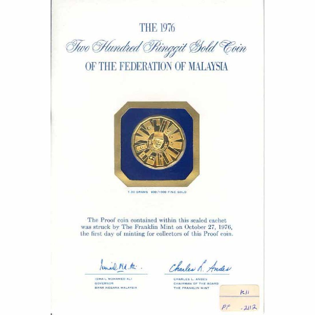 Malaysia 1976 200 ringgit gold Proof
