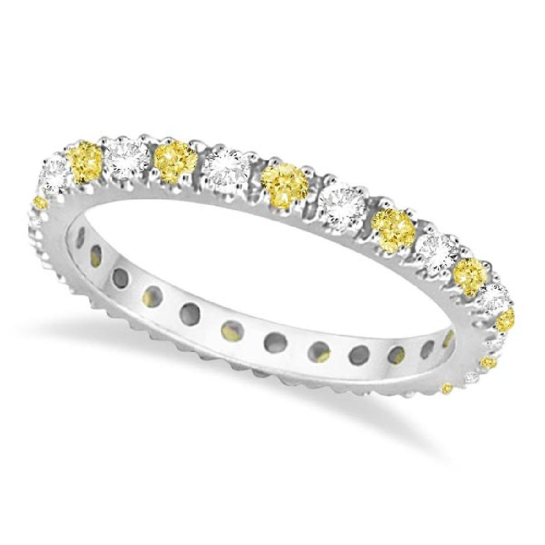 Fancy Yellow Canary and White Diamond Eternity Ring Ban