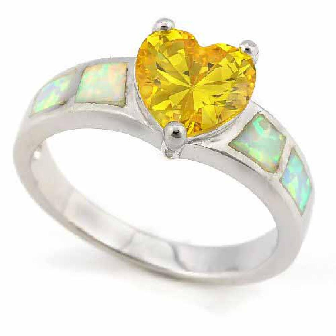 3 CARAT CREATED YELLOW SAPPHIRE & 1 CARAT CREATED FIRE