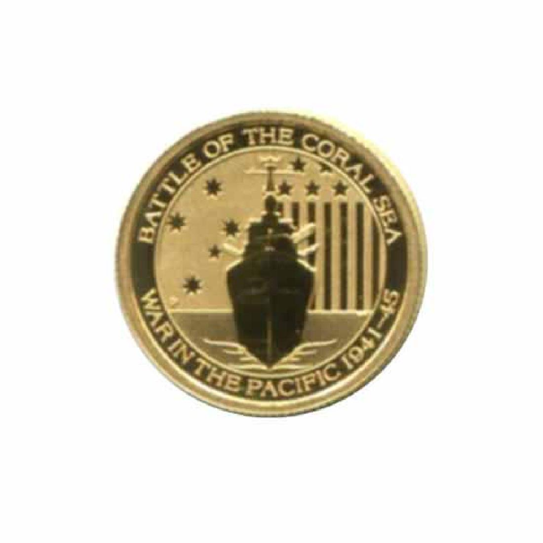 Australia $15 tenth ounce gold PF 2014 WWII Battle of t