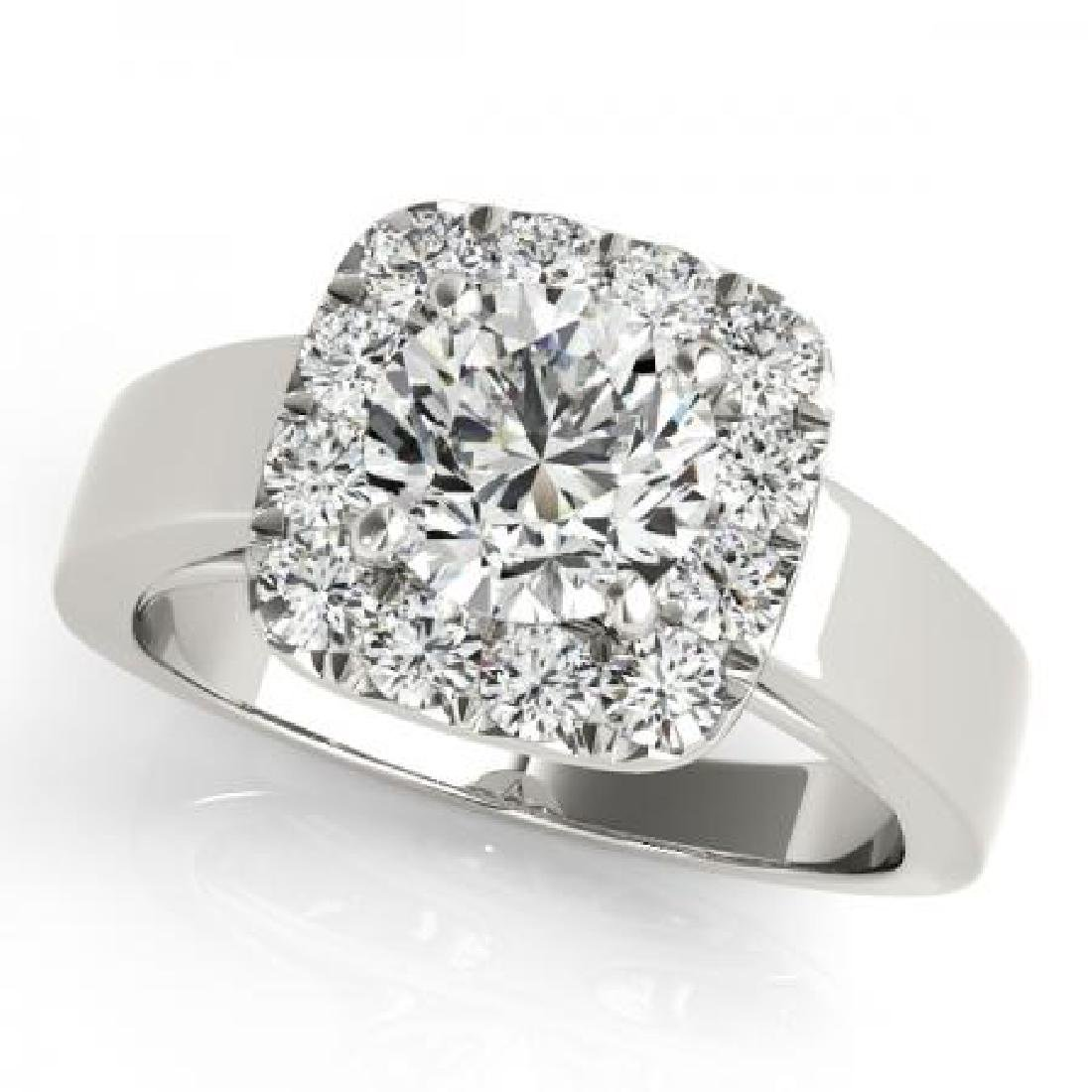 CERTIFIED PLATINUM 1.08 CT G-H/VS-SI1 DIAMOND HALO ENGA