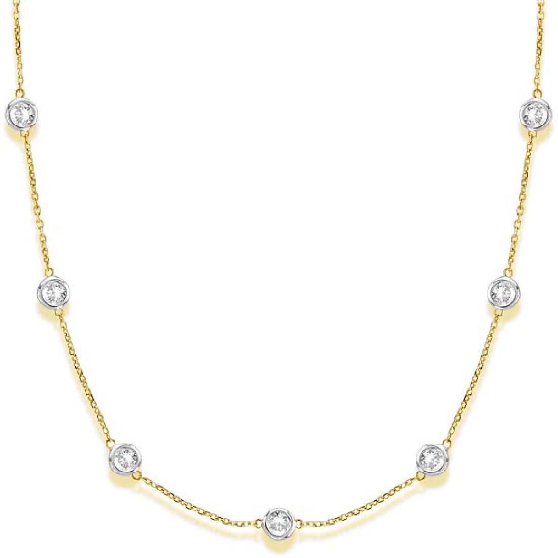 Diamonds by The Yard Bezel-Set Necklace in 14k Two Tone