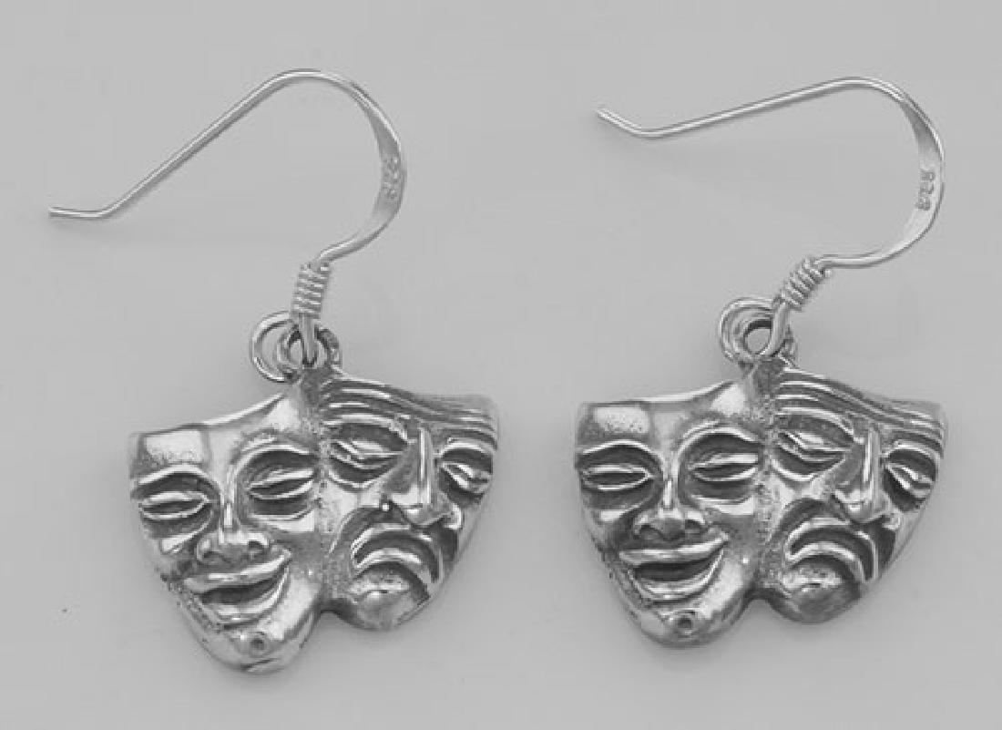 Comedy & Tragedy Earrings - Sterling Silver