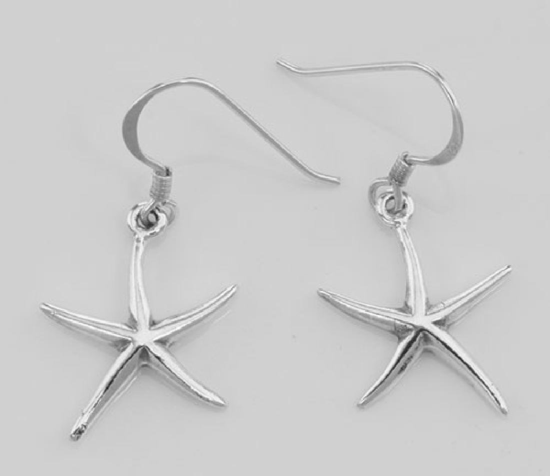 Fun Starfish Earrings - Sterling Silver