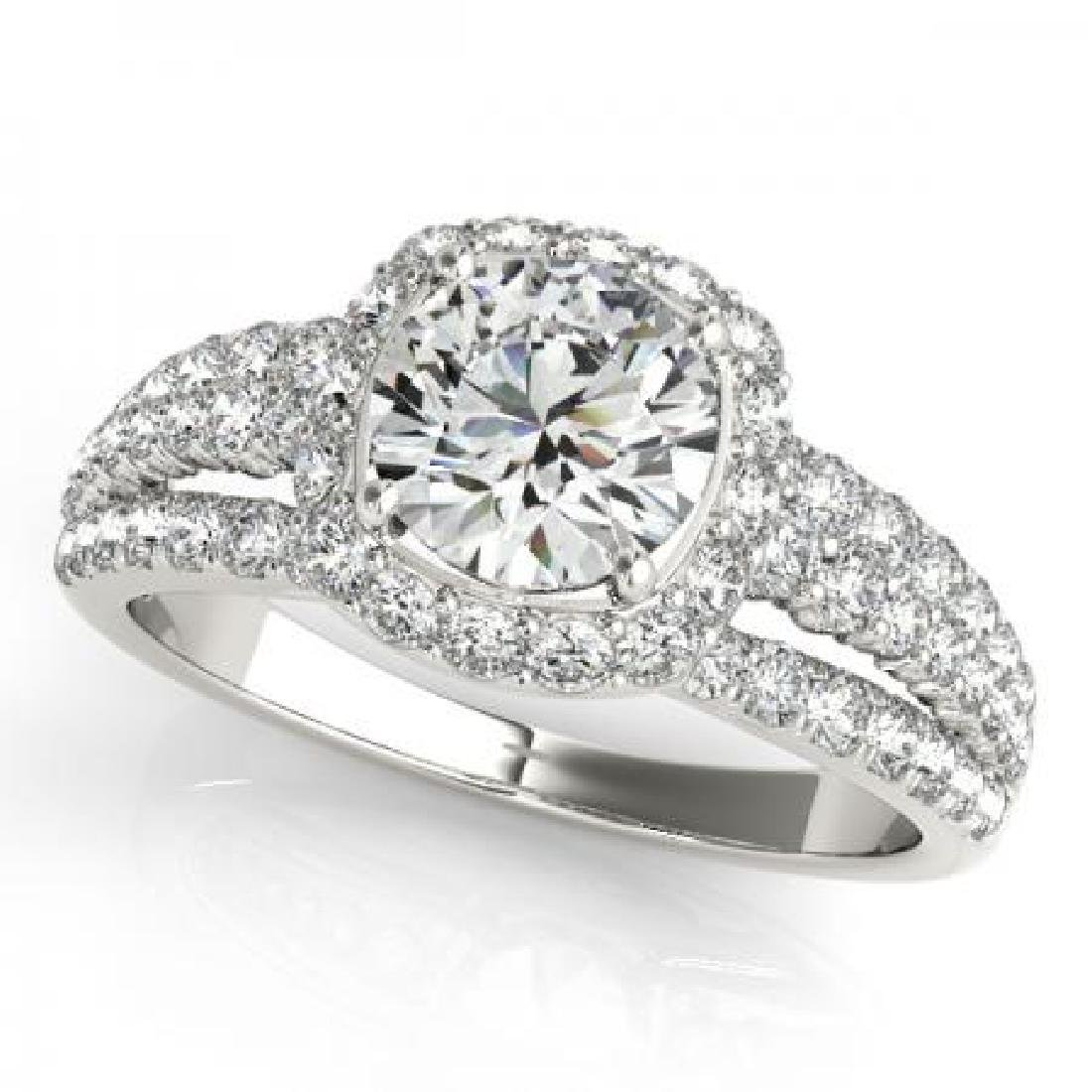 CERTIFIED PLATINUM 1.37 CT G-H/VS-SI1 DIAMOND HALO ENGA