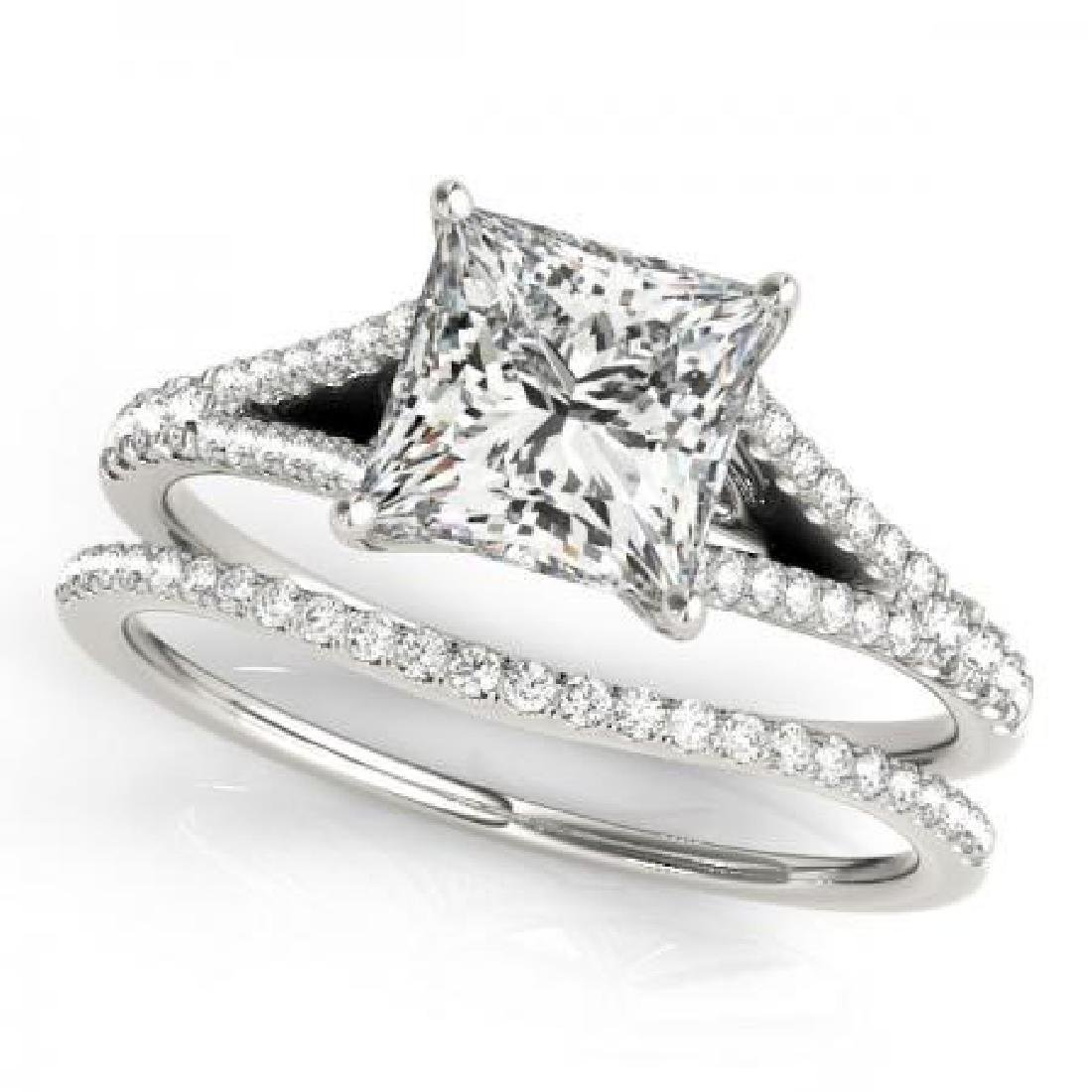 CERTIFIED PLATINUM 1.28 CT G-H/VS-SI1 DIAMOND BRIDAL SE