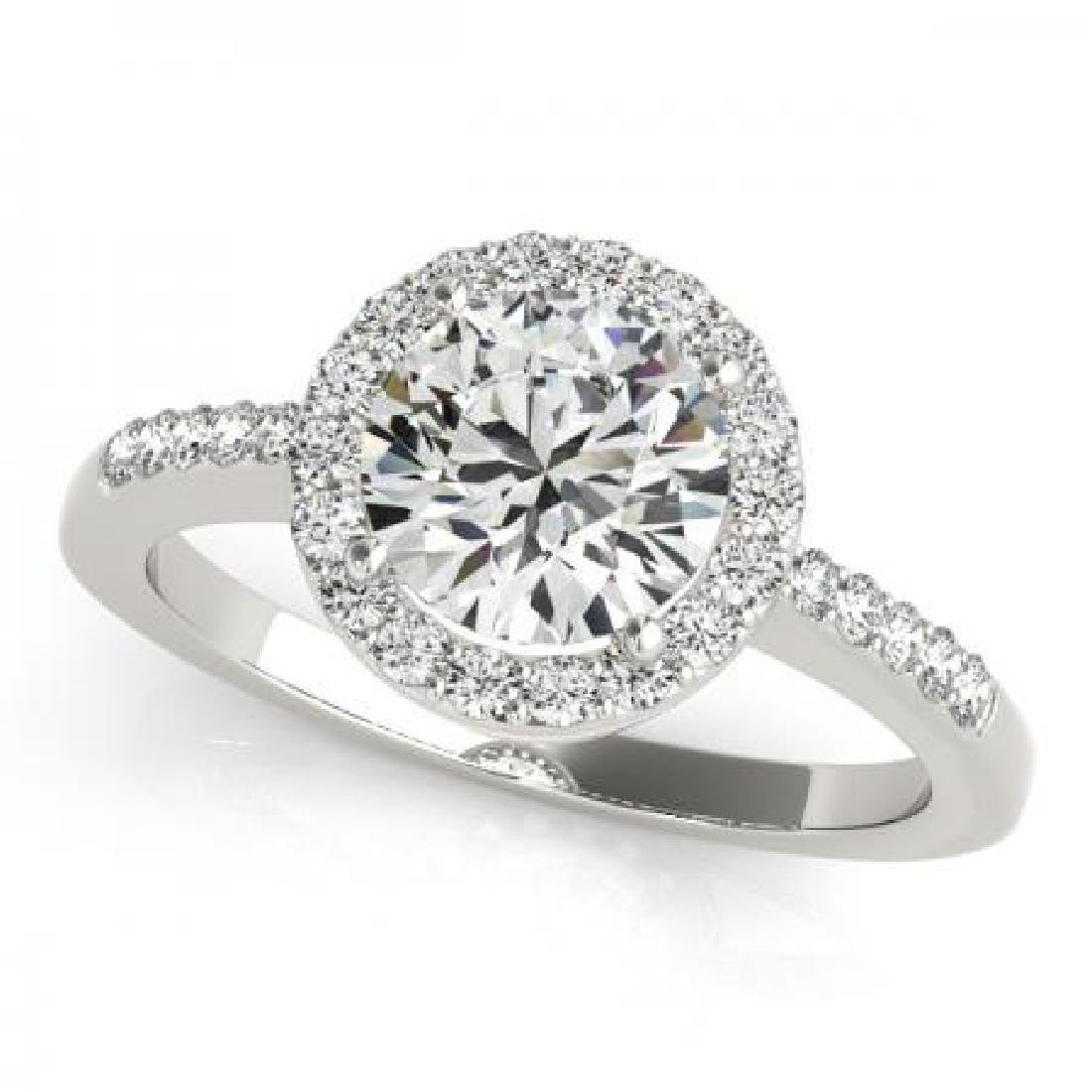 CERTIFIED PLATINUM 1.35 CT G-H/VS-SI1 DIAMOND HALO ENGA